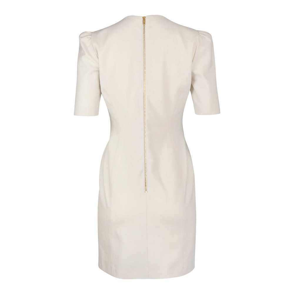 Moschino Boutique Stretch Twill Dress Ivory