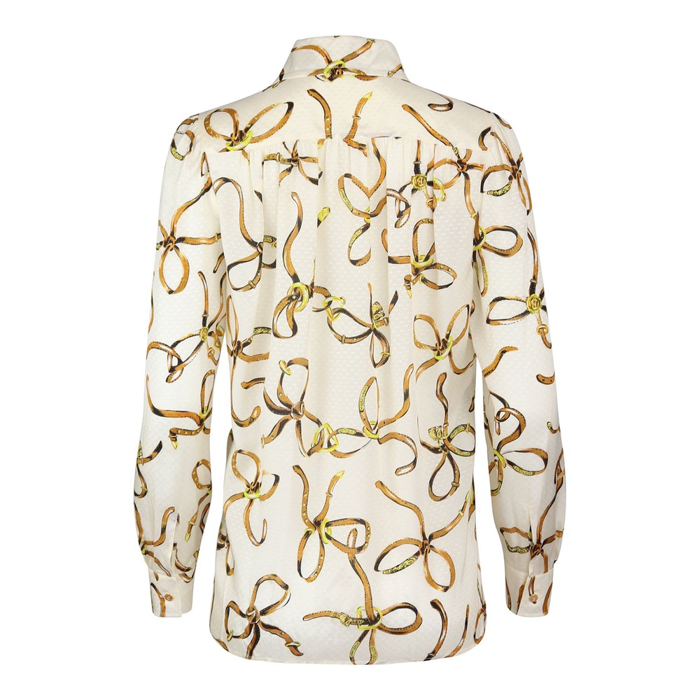 Moschino Boutique Bridle Print Blouse Ivory