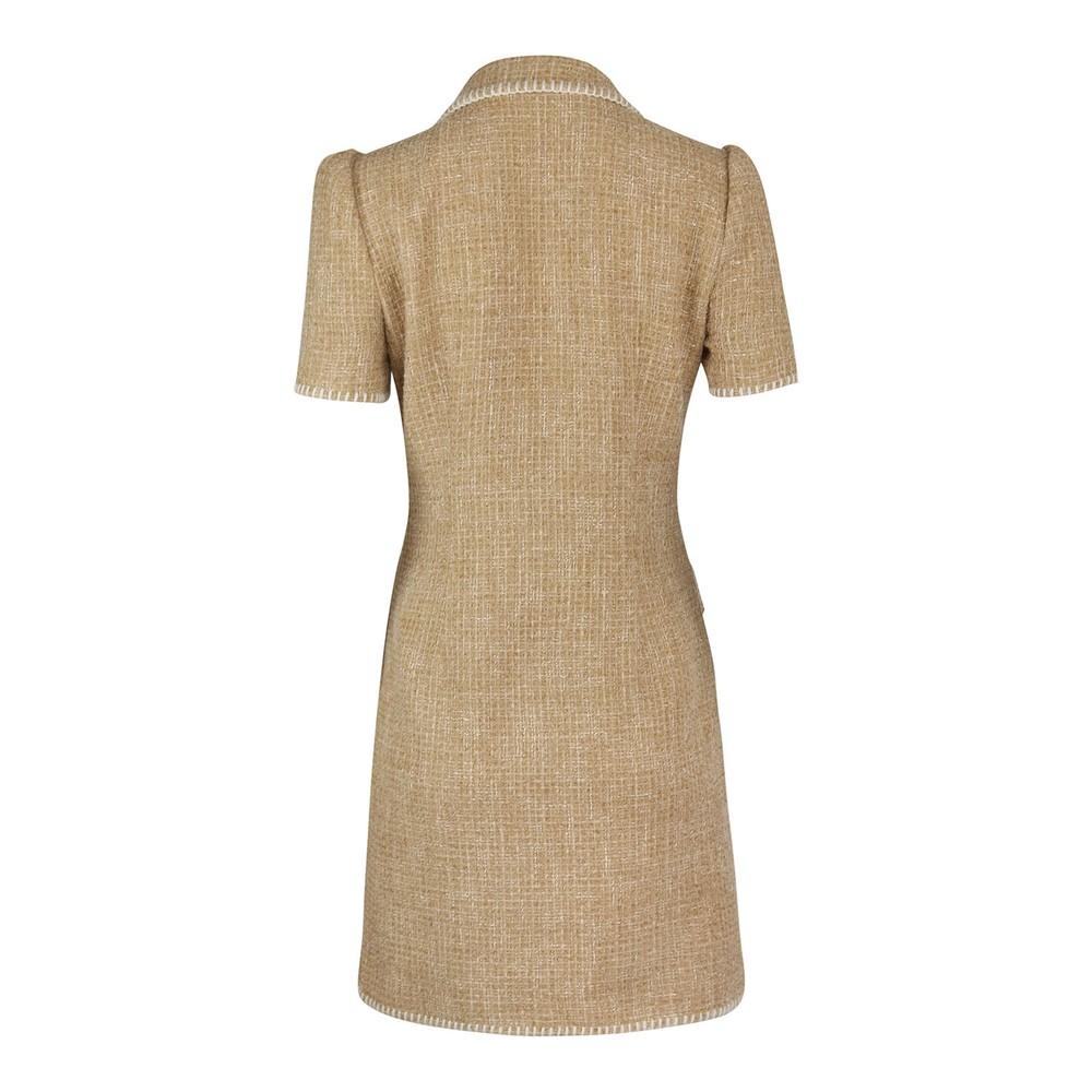 Moschino Boutique Tweed Dress Caramel