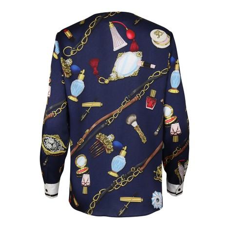 Moschino Boutique Objet Print Lightweight Twill Shirt