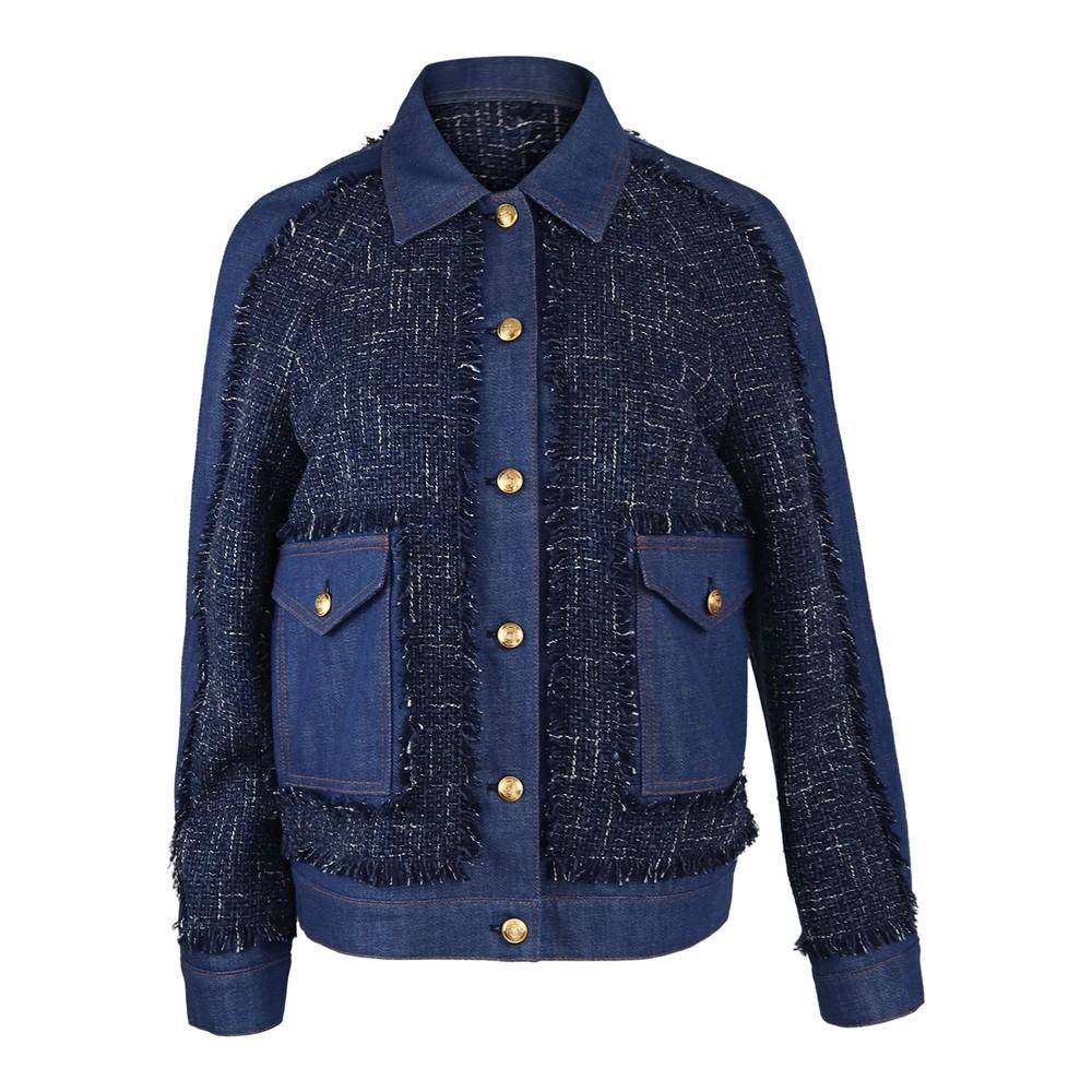 Moschino Boutique Tweed Jacket Denim