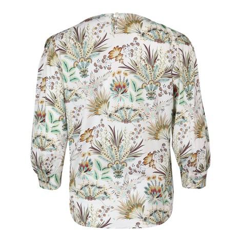 Marella Adamo Puff Sleeve Pattern Top