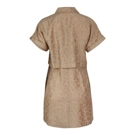 Scotch & Soda Short Sleeve Animal Print  Shirt Dress