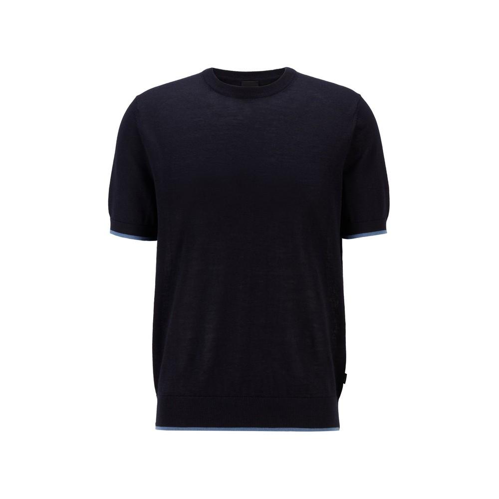 Hugo Boss Persimo Knitted T-Shirt Dark Blue