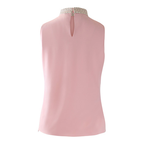 Moschino Boutique Sleeveless Pink Top with Pearl Pattern
