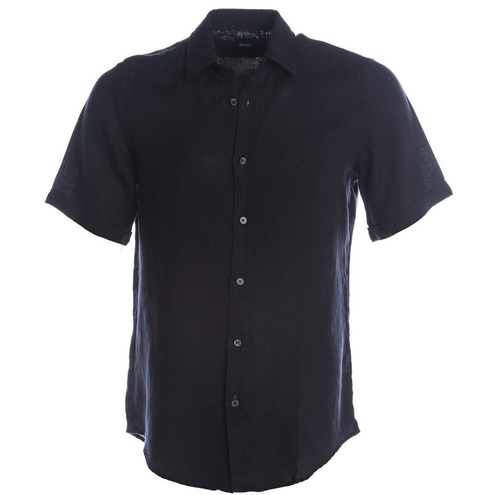 Hugo Boss Luka Linen Shirt Dark Blue