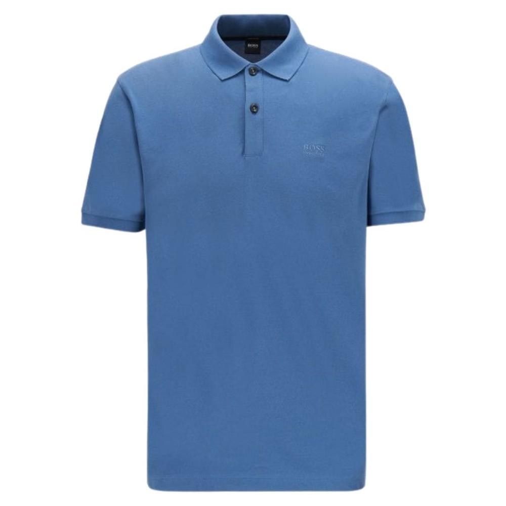 Hugo Boss Pallas Polo Shirt Open Blue