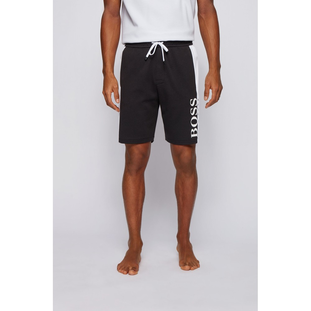 Hugo Boss Jacquard Loungewear Shorts Black