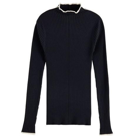 Scotch & Soda Contrasting Piping Knitted Sweatshirt