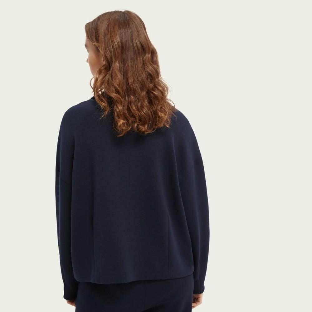 Scotch & Soda Structured Anorak Sweatshirt Navy