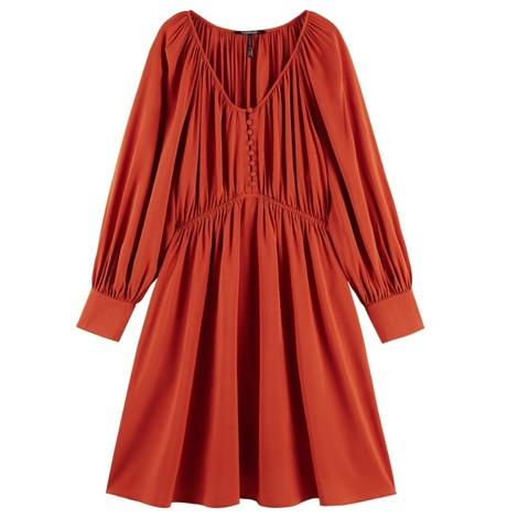 Scotch & Soda Gathered ECOVERO™ Blend Dress
