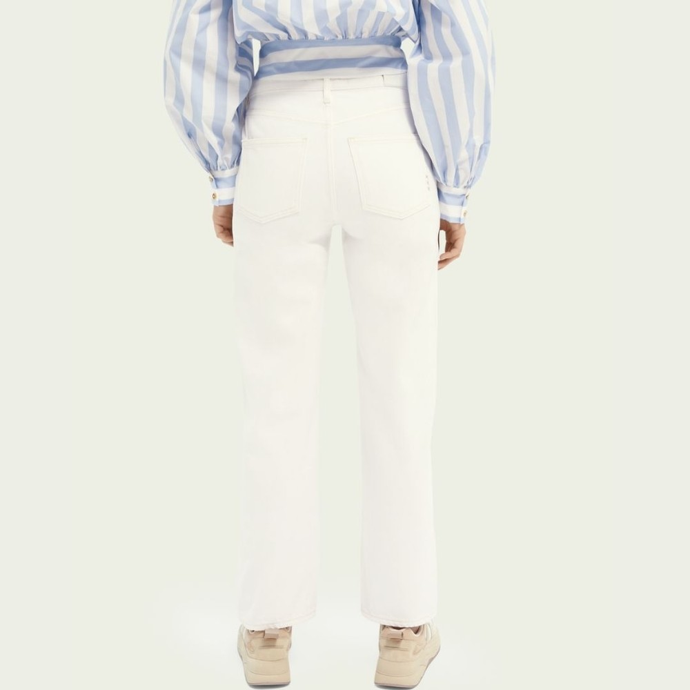 Scotch & Soda Tailored Straight-Fit Cotton jeans White