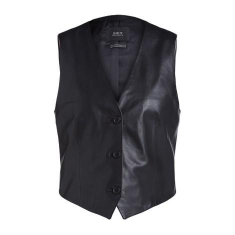 Set Leather Waistcoat