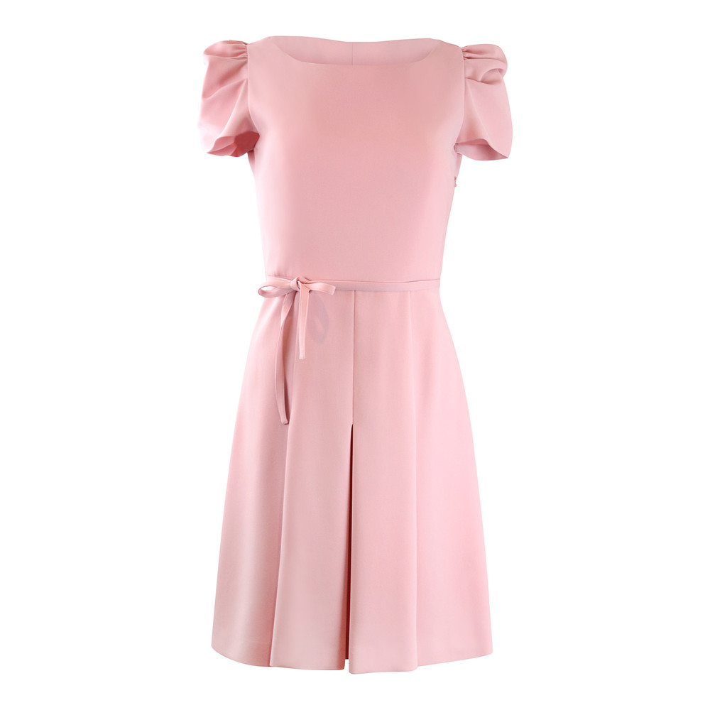 Moschino Boutique Pink Shortsleeve Waisted Dress Pink