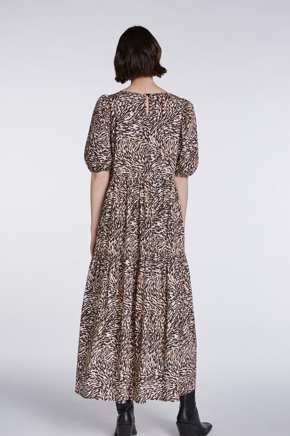 Set Cotton Swirl Print Maxi Dress Animal Print