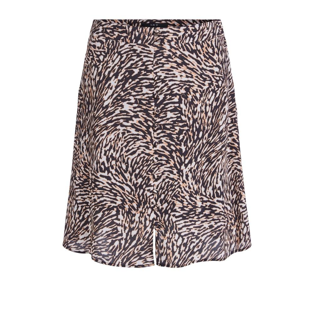 Set Swirl Print Mini Skirt Animal Print