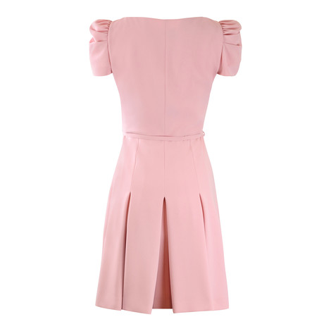 Moschino Boutique Pink Shortsleeve Waisted Dress
