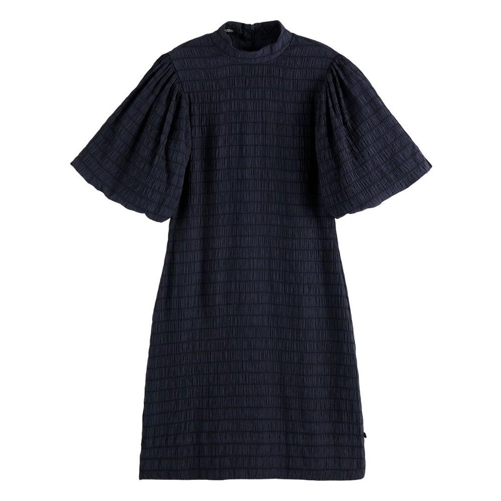 Scotch & Soda Voluminous Sleeved Mini Dress Navy
