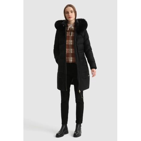 Woolrich Womenswear Long Parka In Wool, Silk & Fur
