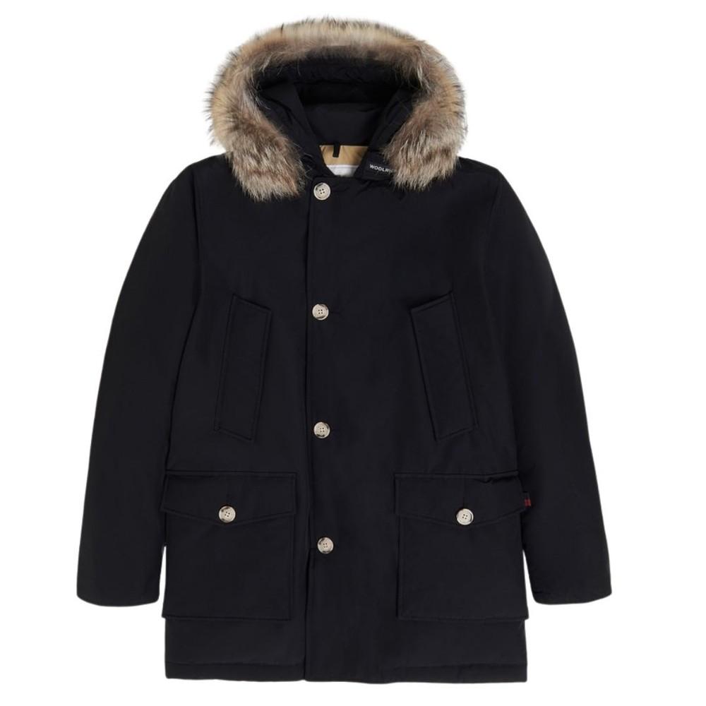 Woolrich Menswear Arctic Detachable Fur Parka Jacket Black