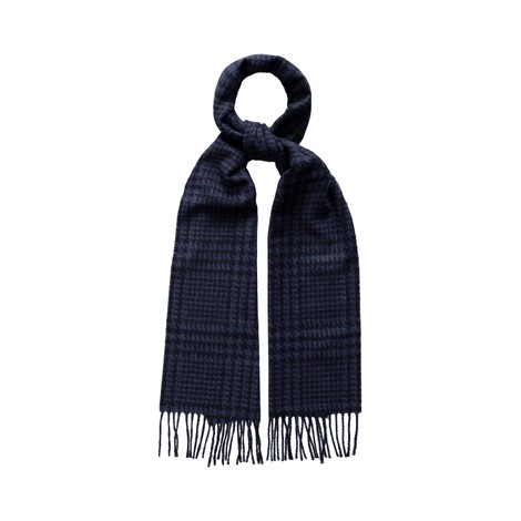 Eton Prince Of Wales Check Wool Scarf