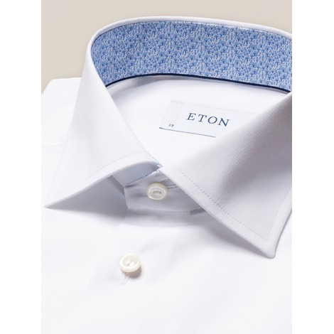 Eton Poplin Contemporary Fit Shirt - Mushroom Print Details
