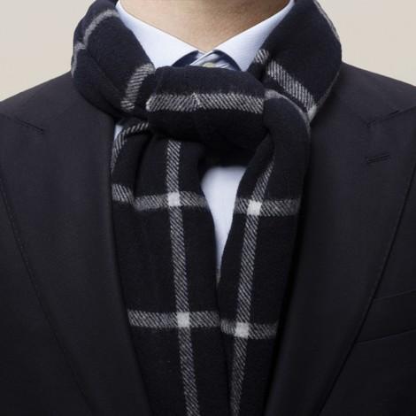 Eton Check Wool Scarf