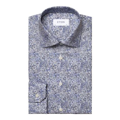 Eton Scandinavian Paisley Print Shirt