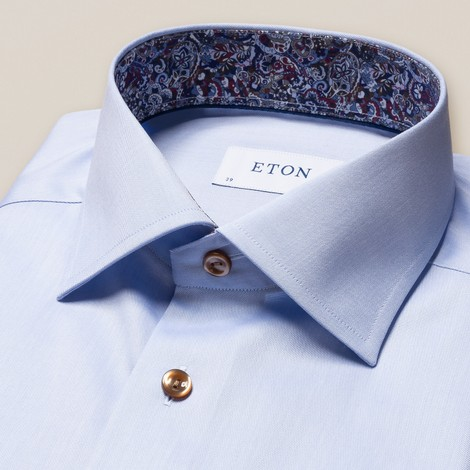 Eton Signature Twill Slim Fit Shirt w/Paisley