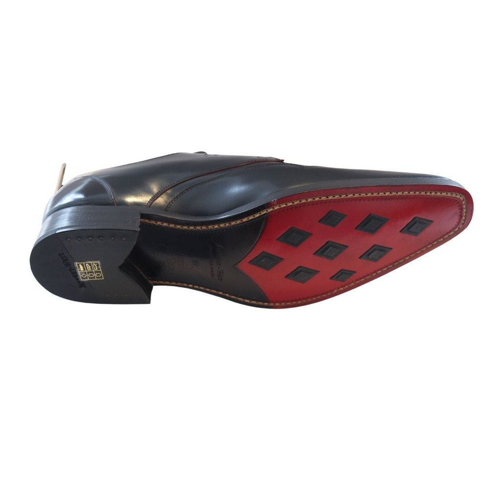 Jeffery West Dexter Polished Leather Black and Red