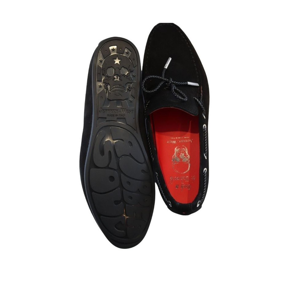 Jeffery West The Wag Suede Loafer Black