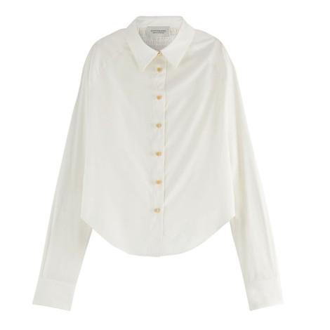 Scotch & Soda Smocked Raglan-Sleeved Shirt