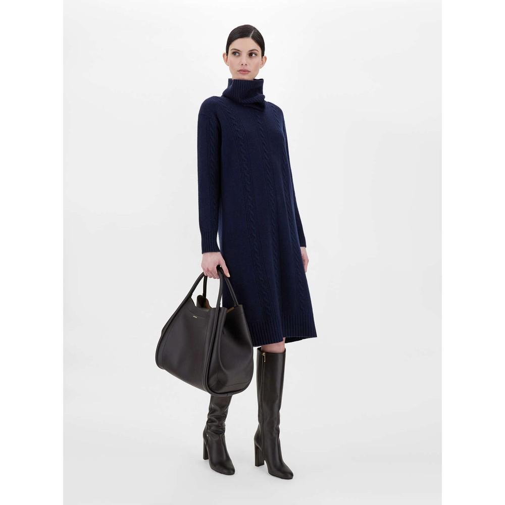 Maxmara Studio Paese Wool & Cashmere Dress Navy