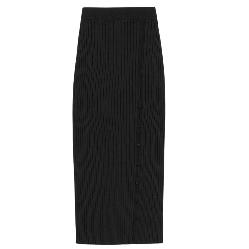 Sportmax Suez Knitted Skirt Black
