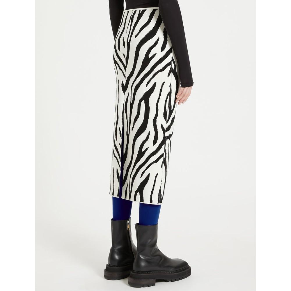 Sportmax Ribes Knit Skirt Black & White