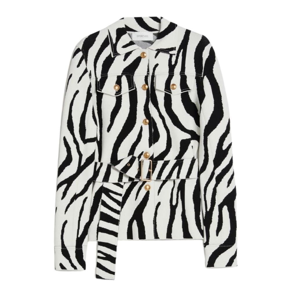 Sportmax Eiffel Military Jacket Black & White