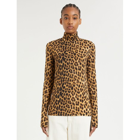 Sportmax Fly Skintight Jersey Polo-Neck Top