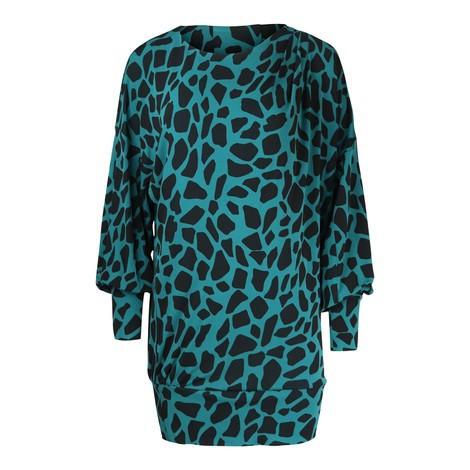 DVF Reese Matte-Jersey Mini Dress in Giraffe
