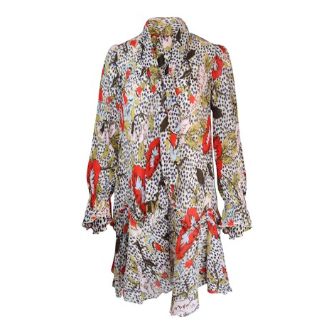 DVF Kacie Mini Dress in Leopard & Charlottenburg Floral