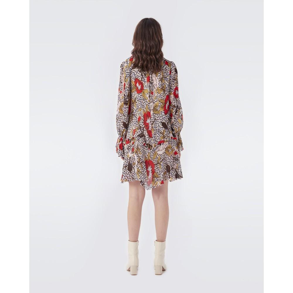 DVF Kacie Mini Dress in Leopard & Charlottenburg Floral Floral