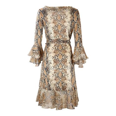 DVF Carli Ruffle Silk Jersey Wrap Dress