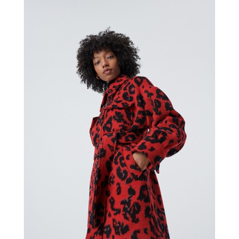 DVF Manon Oversized Wool Jacquard Coat