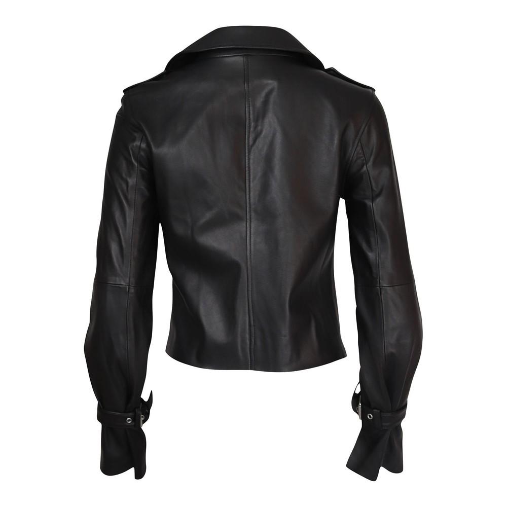 Paige Rayven Leather Jacket Black