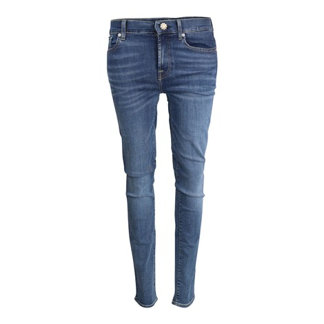 7 For All Mankind Womenswear Roxanne B(Air) Vintage Dusk with Jewell Button Mid Waist Slim Jeans