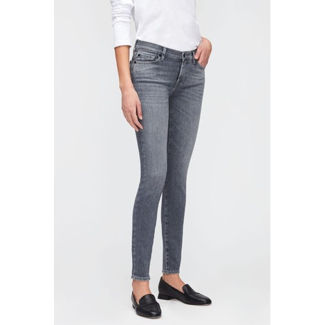 7 For All Mankind Womenswear The Skinny Slim Illusion Genuine Jeans with Embellished Squiggle