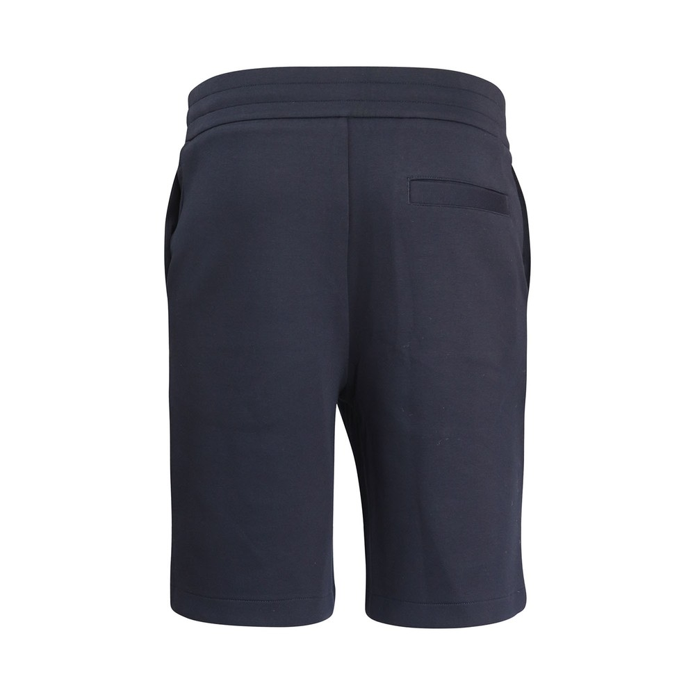 Emporio Armani Sweat Shorts w/Velcro Badge Navy