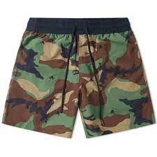 Ralph Lauren Menswear Classic Camouflage Swim Shorts Green
