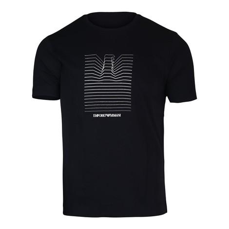 Emporio Armani Eagle Graphic Crew Neck T-Shirt in Navy