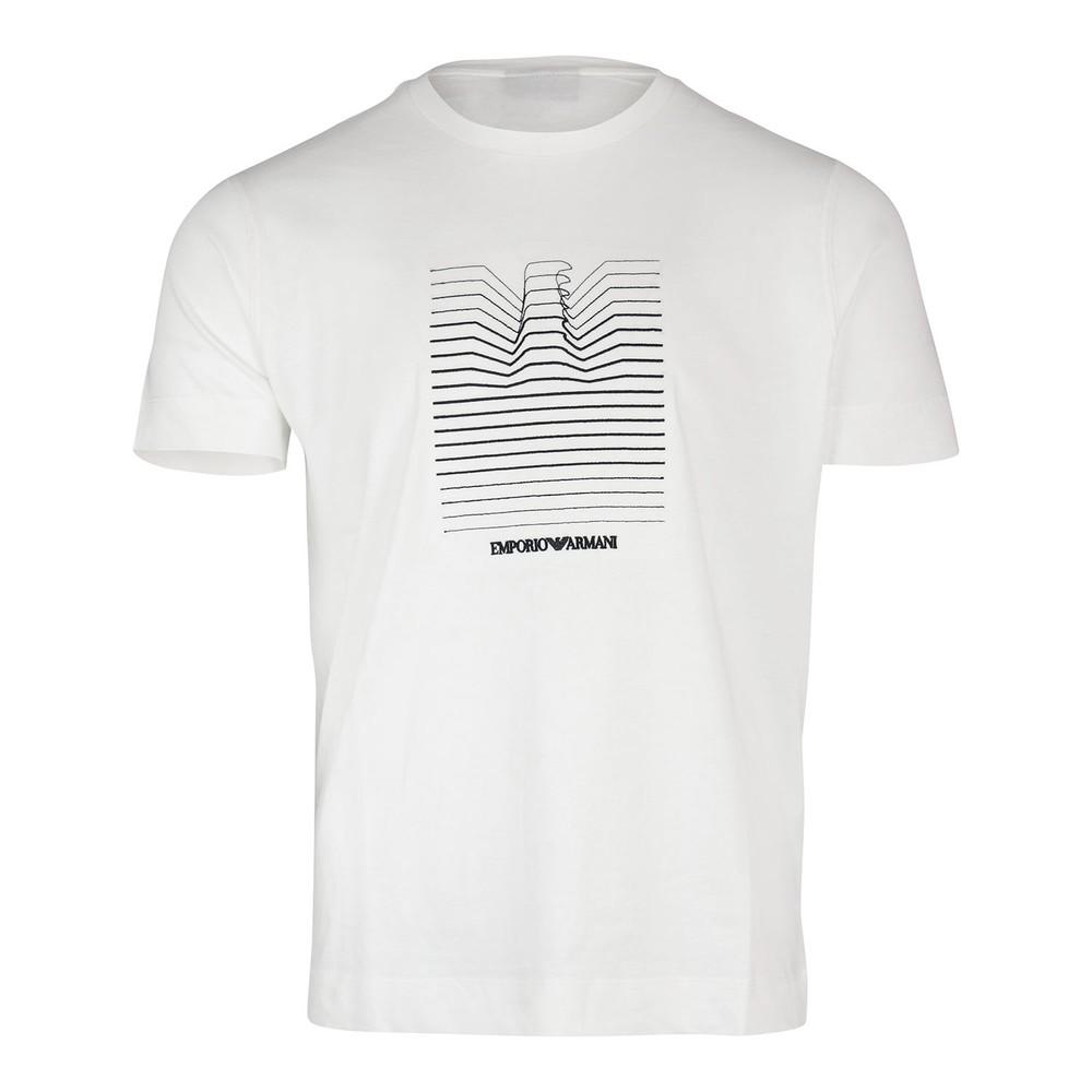 Emporio Armani Eagle Graphic Crew Neck T-Shirt White