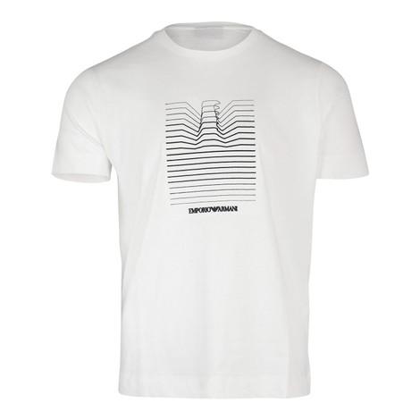 Emporio Armani Eagle Graphic Crew Neck T-Shirt in White